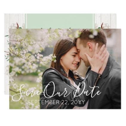 Save The Date Rustic Southern Cotton Wedding Photo Invitation In