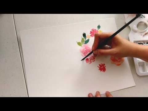 Paint With Me Floral Wreath Watercolor Tutorial Beginner