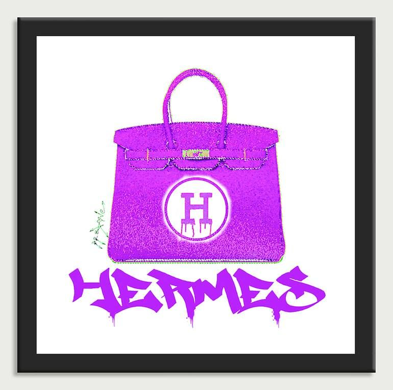 Photo of Original Fashion Printmaking by Dr Eight Love | Pop Art Art on Canvas | Hermes Handbags Color 5 – Canvas Limited Edition