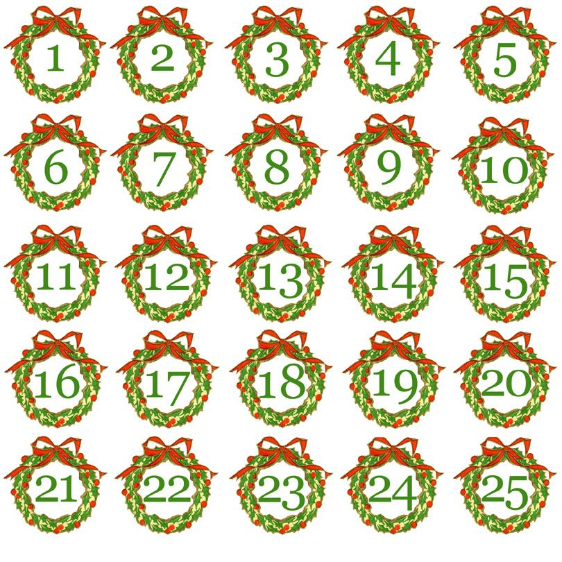 graphic relating to Advent Calendar Numbers Printable identified as Totally free+Printable+Arrival+Calendar+Figures Initiatives towards Check out