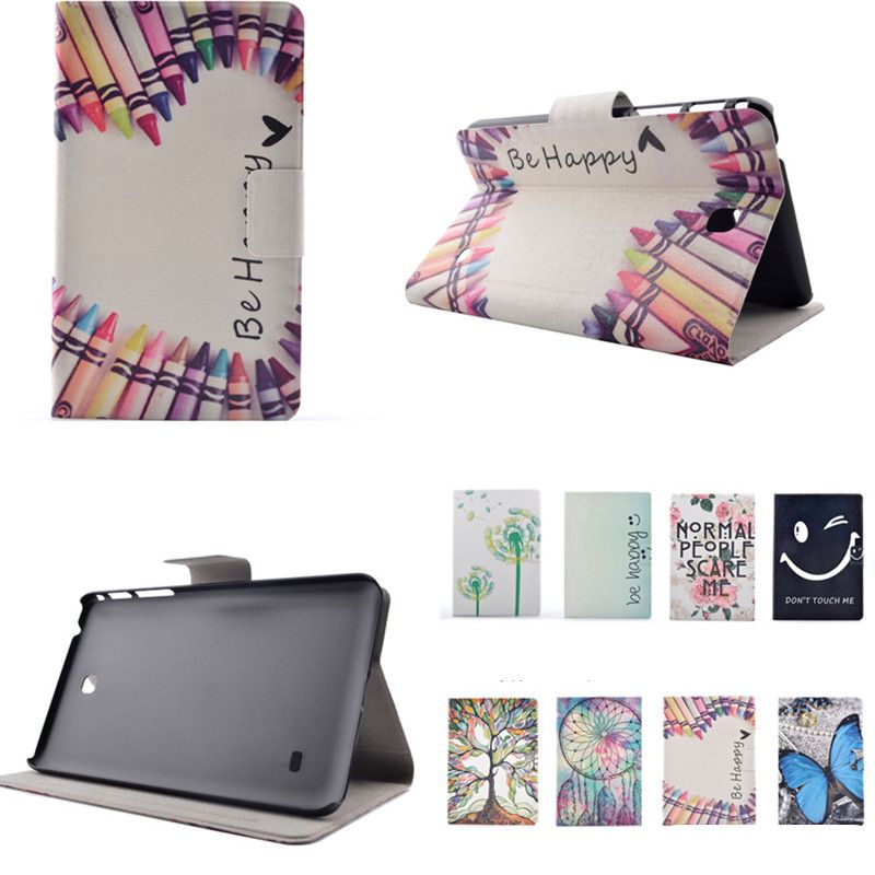 XX For Galaxy Tab4 7 0'' T230 Case Cover Flip PU Leather+Plasic Back