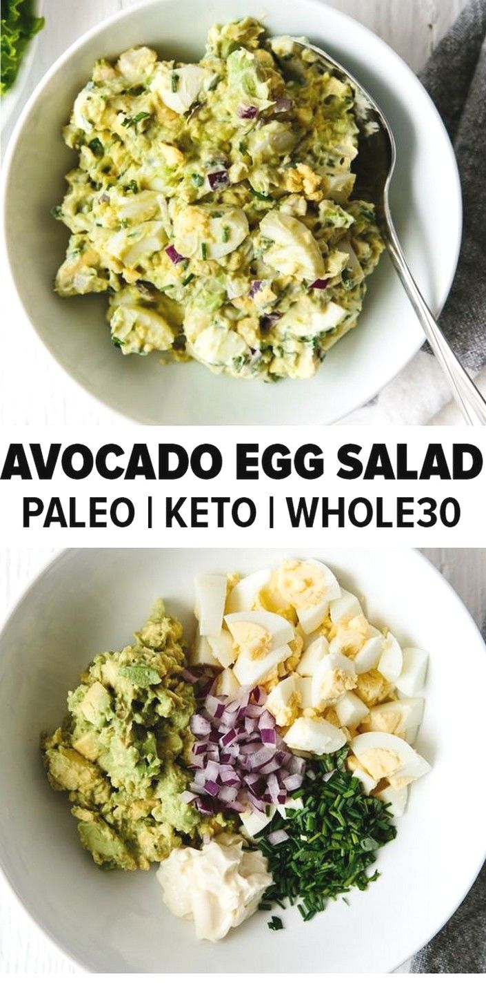 Avocado Egg Salad | Keto Recipes #ketorecipesforbeginners