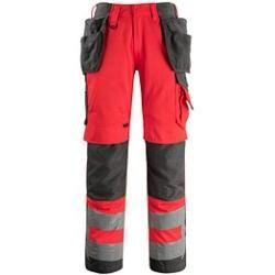 Photo of Pantaloni di avvertimento unisex Mascot® Wigan rosso taglia 27
