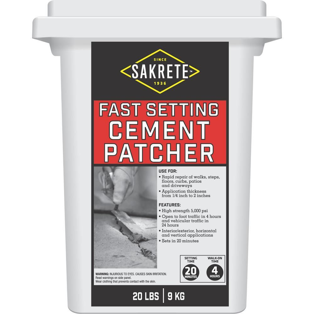Sakrete 20 Lb Fast Setting Cement Patcher 60200630 The Home Depot In 2020 Cement Concrete Floor Repair Driveway Repair