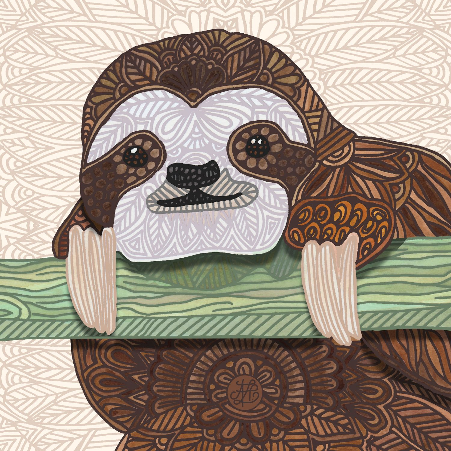 Stupell yorkie dog 3 panel decorative fireplace screen - It S A Sloth Kind Of Day By Angelika Parker Canvas Print