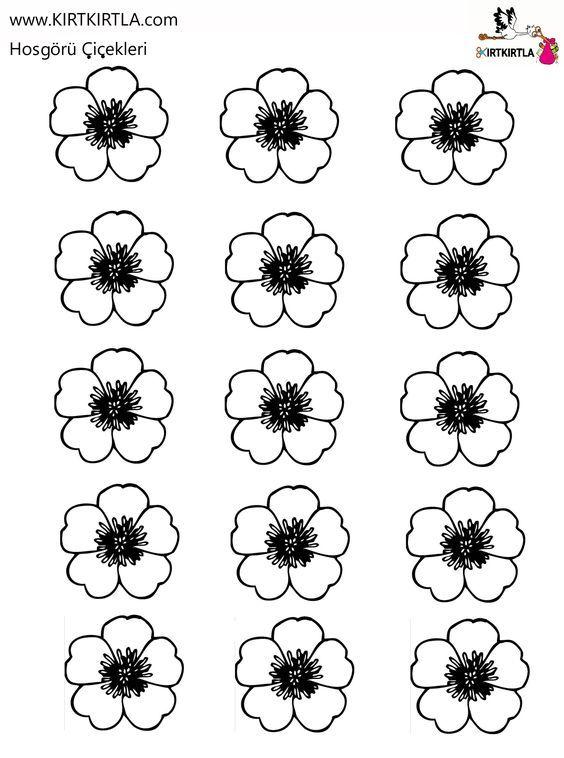 Proje Hoşgörü Ağaci Anneler Günü Flower Coloring Pages Paper