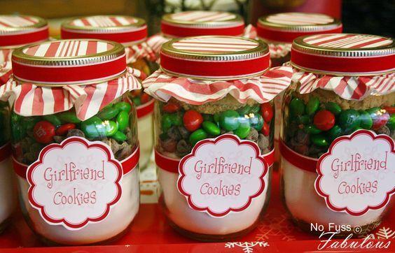 Christmas Girlfriend Cookies In A Jar Teacher Christmas Gifts Christmas Gifts For Girlfriend Mason Jar Gifts