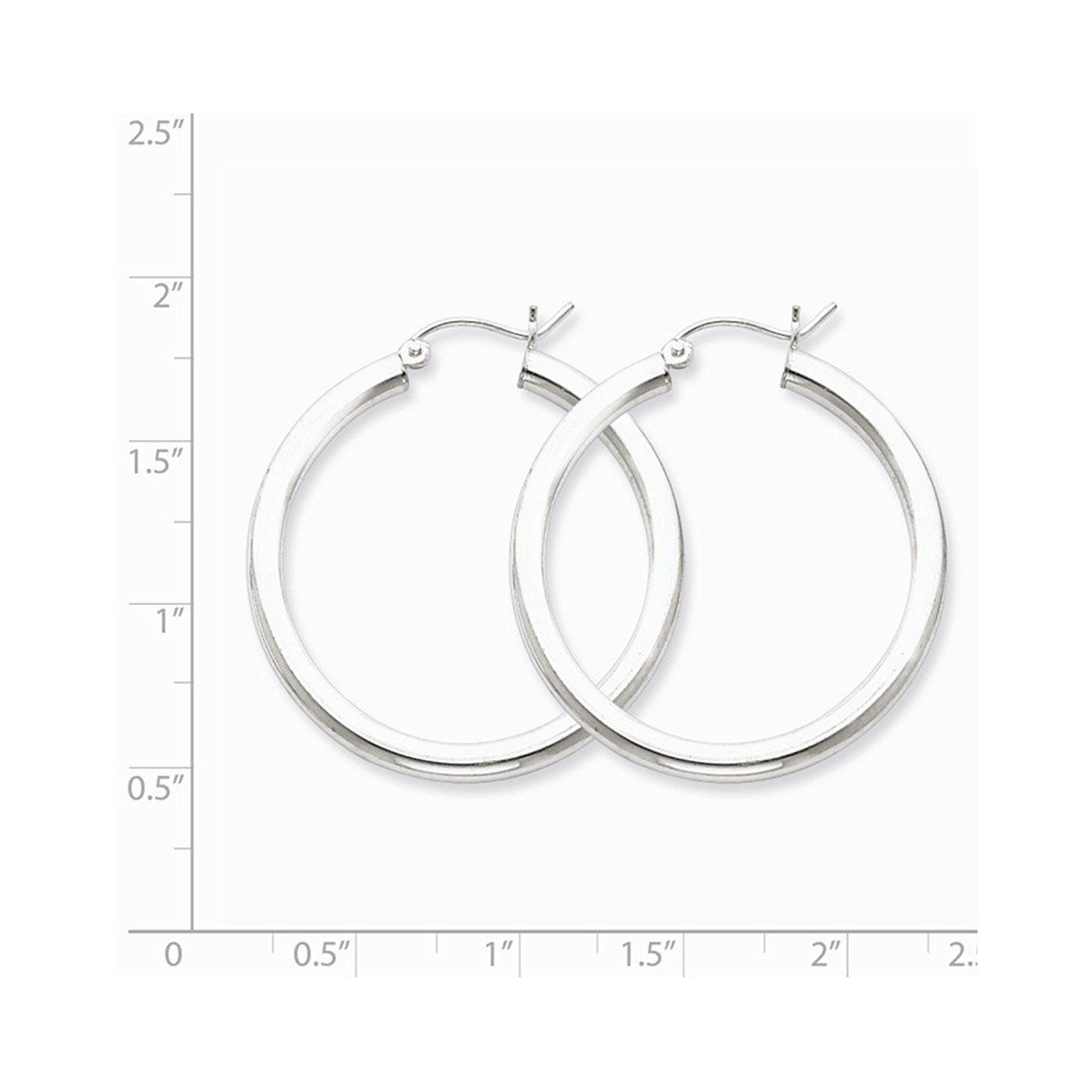 3e36f24f1 ICE CARATS 925 Sterling Silver 3mm Round Hoop Earrings Ear Hoops Set Bead  Fine Jewelry Gift For Women Heart -- You can get more details by clicking  on the ...