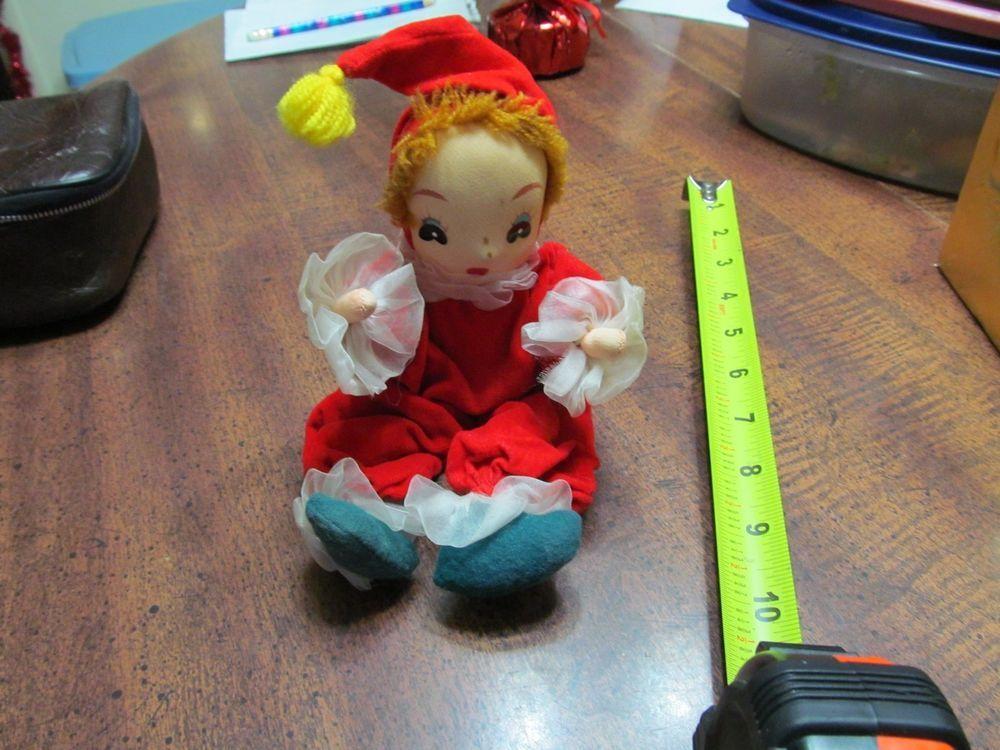 Vintage Pixie Elf  Vintage Red Velvet Japan
