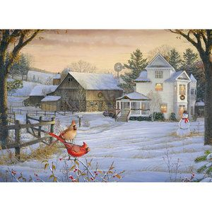 Cobble Hill Puzzle Company Countryside Cardinals 1000 Piece Puzzle