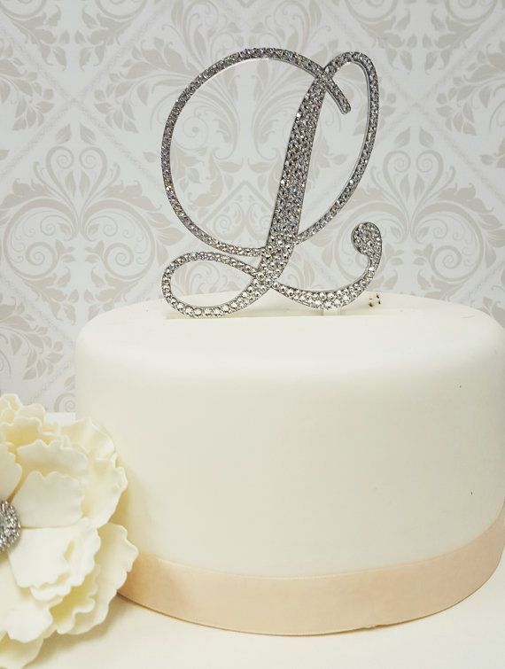 5 Inch Tall Monogram Wedding Cake Topper By SpectacularEvents