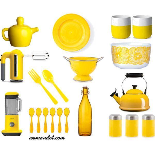Merveilleux Yellow Kitchen Accessories
