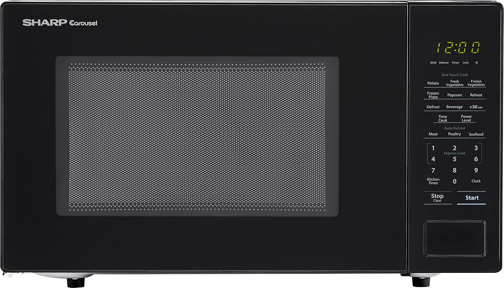 Sharp Carousel 1 1 Cu Ft Mid Size Microwave Black Smc1131cb
