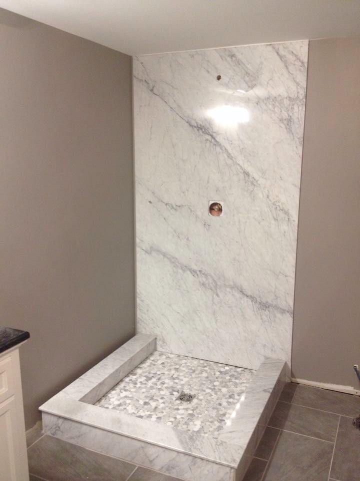 White Carrara Marble Shower Wall 4x8 Panel Under 100lbs Marble Shower Walls Marble Showers Shower Wall