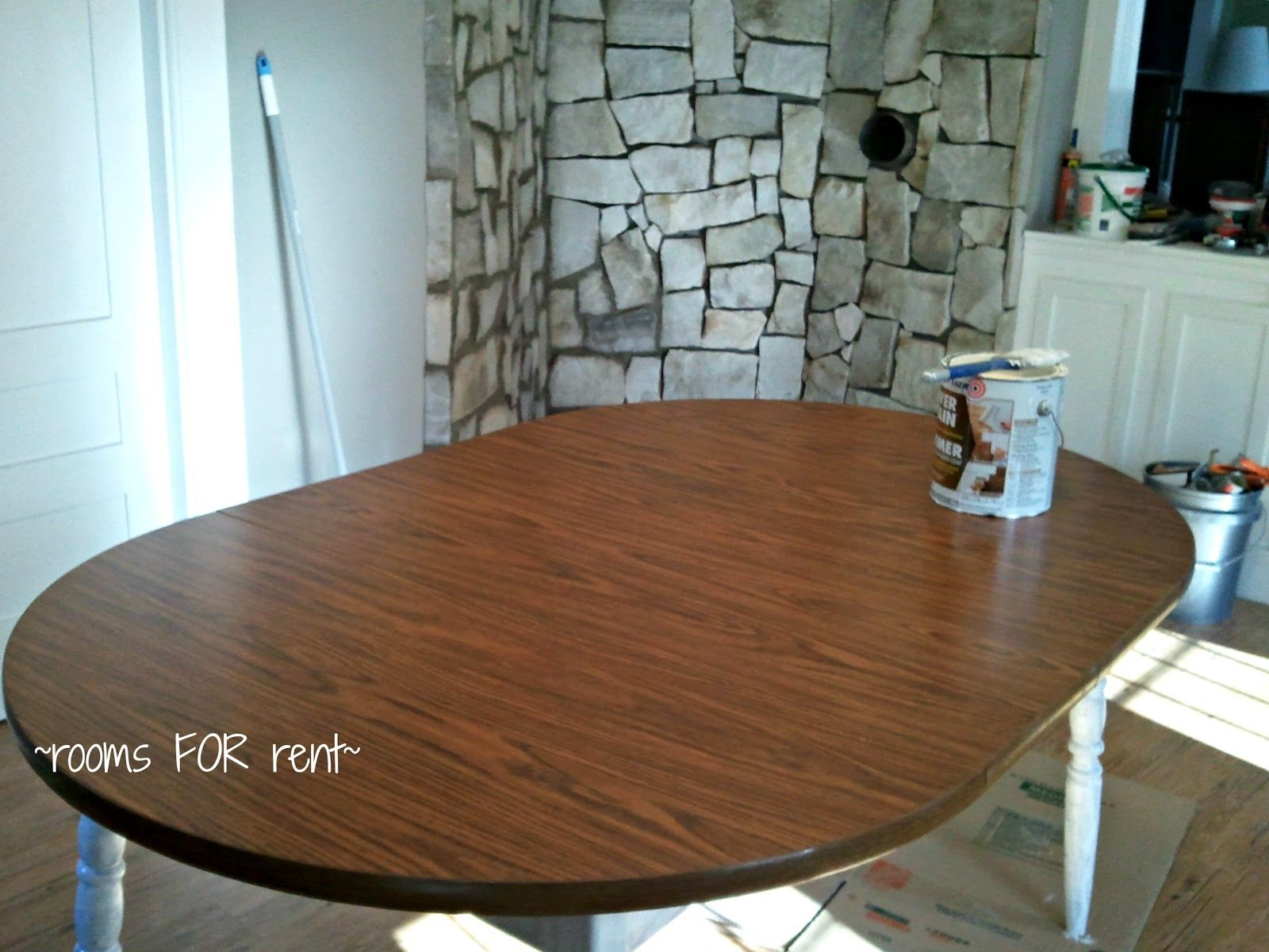 Table Makeover Dining Room Table Makeover Laminate Furniture