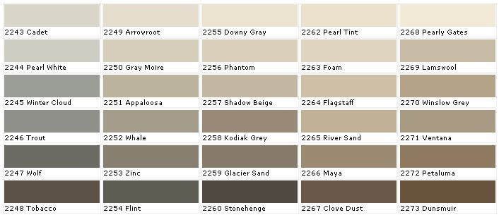 zinc pratt and lambert Zinc sample-Pratt and Lambert Paint - sample rgb color chart