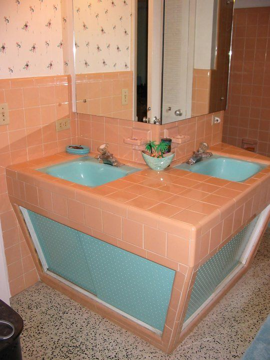 Cool 50 39 s bathroom sinks i love this idea not getting into for Bathroom ideas 1950s