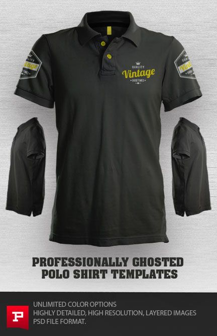 The perfect ghosted polo shirt template for showcasing for T shirt ecommerce website