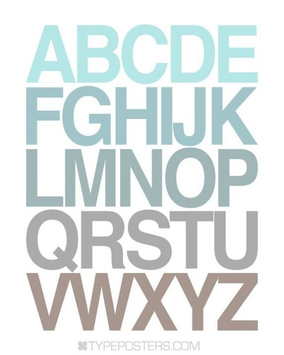 ABC Typography Print from TypePosters on etsy