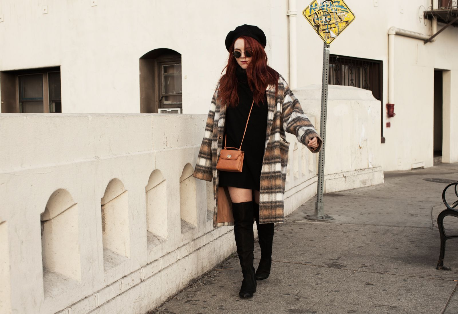 Black beatnik-inspired outfit