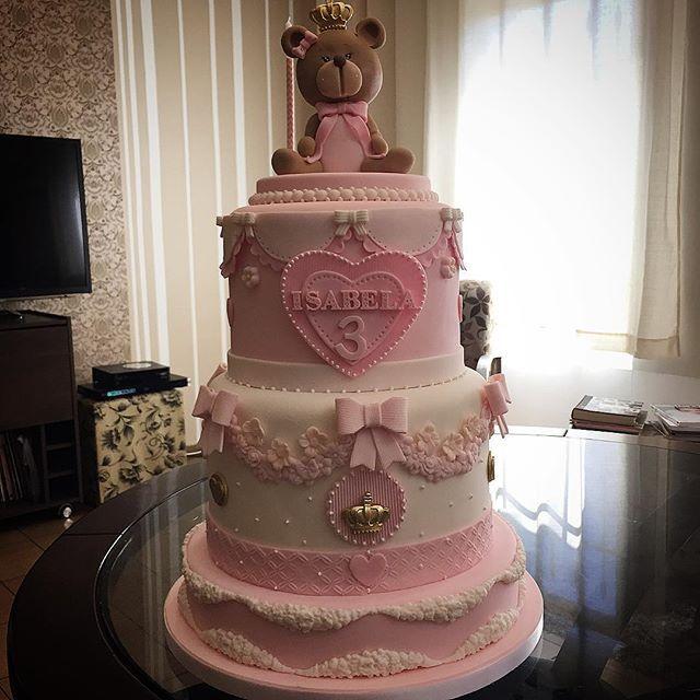 Ursa Princesa - bolo para querida Isabela