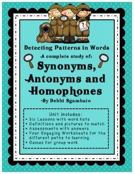 A Complete Study Of Synonyms Antonyms And Homophones Prefixes And Suffixes Word Study Compound Words