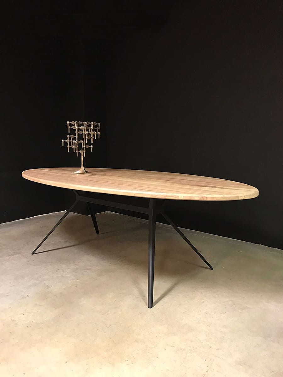 Eetkamertafel Ovaal Diningtable Oval Industrial Conference Table Ovale Tafel