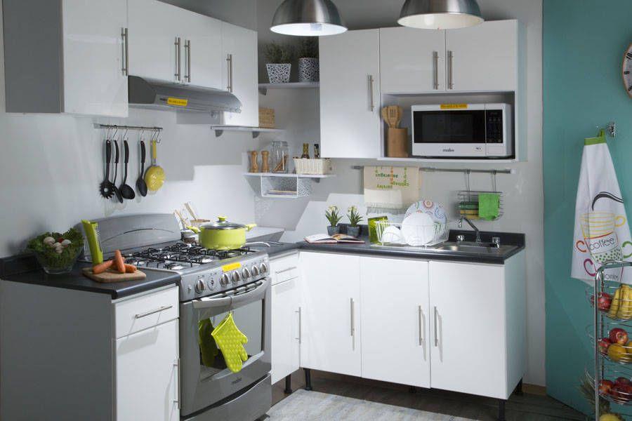 6 Grandes ideas para cocinas chiquititas Ideas para cocinas