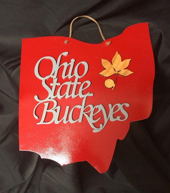 Ohio State Wall Art ohio state buckeyes wall art. buckeyes wooden sign. ohio script
