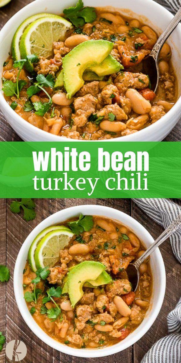 White Bean Turkey Chili #chilirecipe