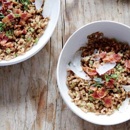 Bacon and Scallion Farrotto Recipe