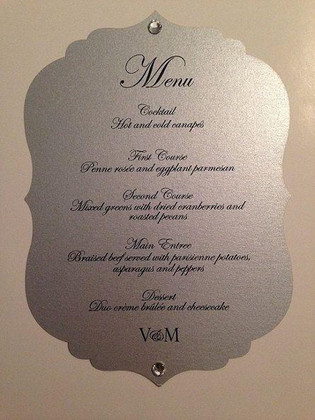 Wedding Menu Card Laser Cut Victorian By Papiercouture1 10 00