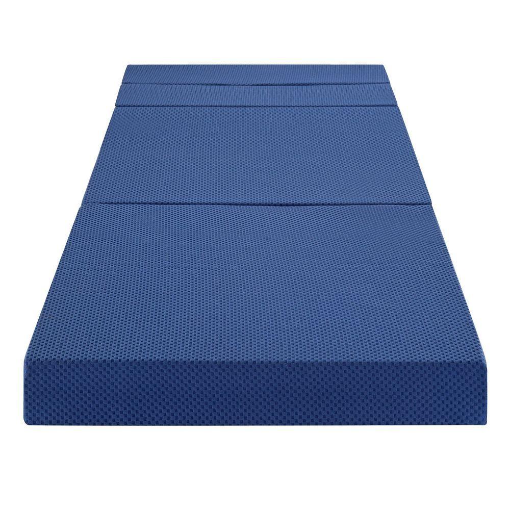 SLEEPLACE 4 Inch TriFolding Memory Foam Mattress and Sofa