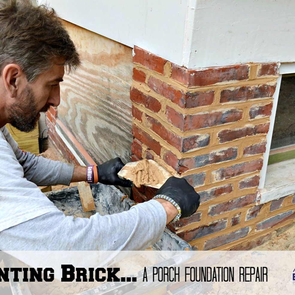 RePointing Brick...a Porch Foundation Repair