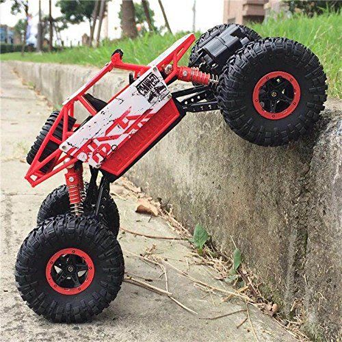 Top Race Remote Control Rock Crawler Rc Monster Truck 4wd Off Road Vehicle 2 4ghz Batteries Included Tr 130 Best Rc Cars Remote Control Cars Rc Cars