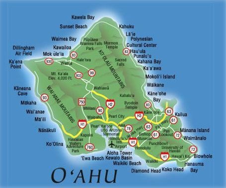 Beaches Oahu Map Been there, done that, loved it! O'AHU, Hawaii