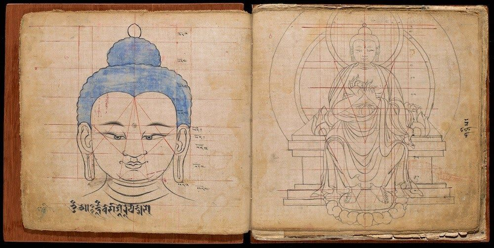 Un cuaderno de proporciones... tibetanas