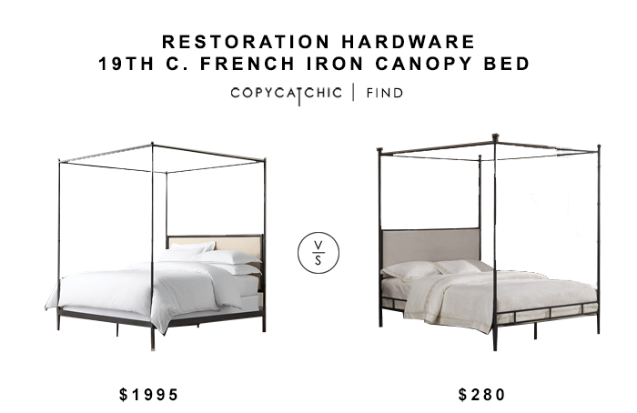 Restoration Hardware 29th C French Iron Canopy Bed Iron Canopy