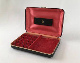 Vintage Mens Jewelry Box Cufflink Box Mens Jewelry Organizer