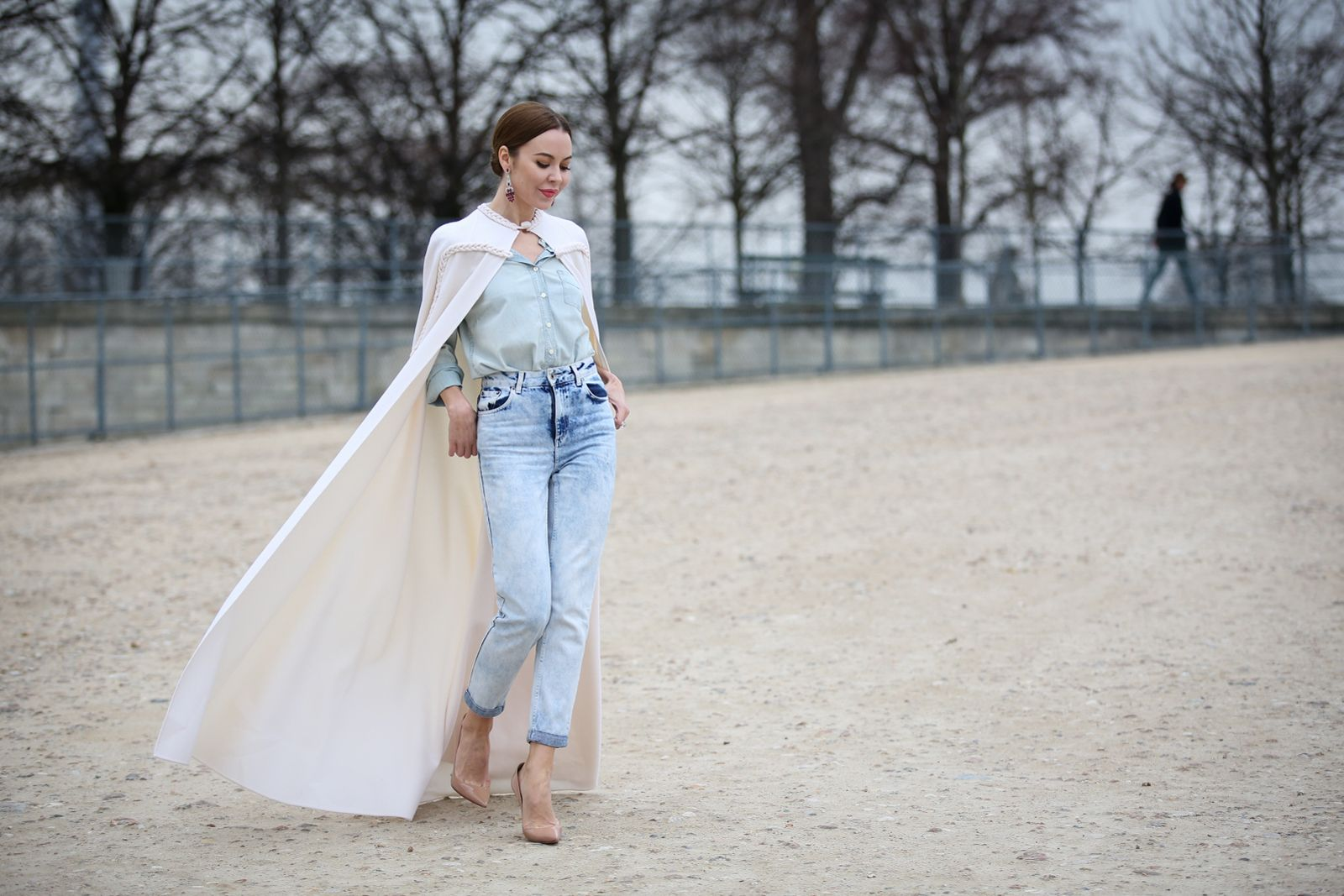 Princess cape? Pair it with jeans for an offbeat combination.