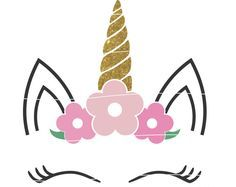 Svg De Unicornio Floral Svg Cabeza Floral Unicornio Unicornio Con