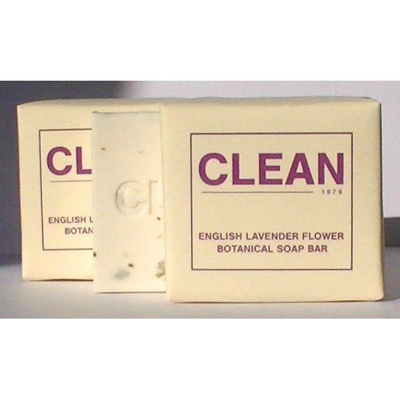 Beautifully made, pure white Lavender soap bar with natural purple flower botanicals.  http://www.madecloser.co.uk/gifts/gifts-under20/CLEAN-Soap-English-Lavender-Botanical-Soap-Bar