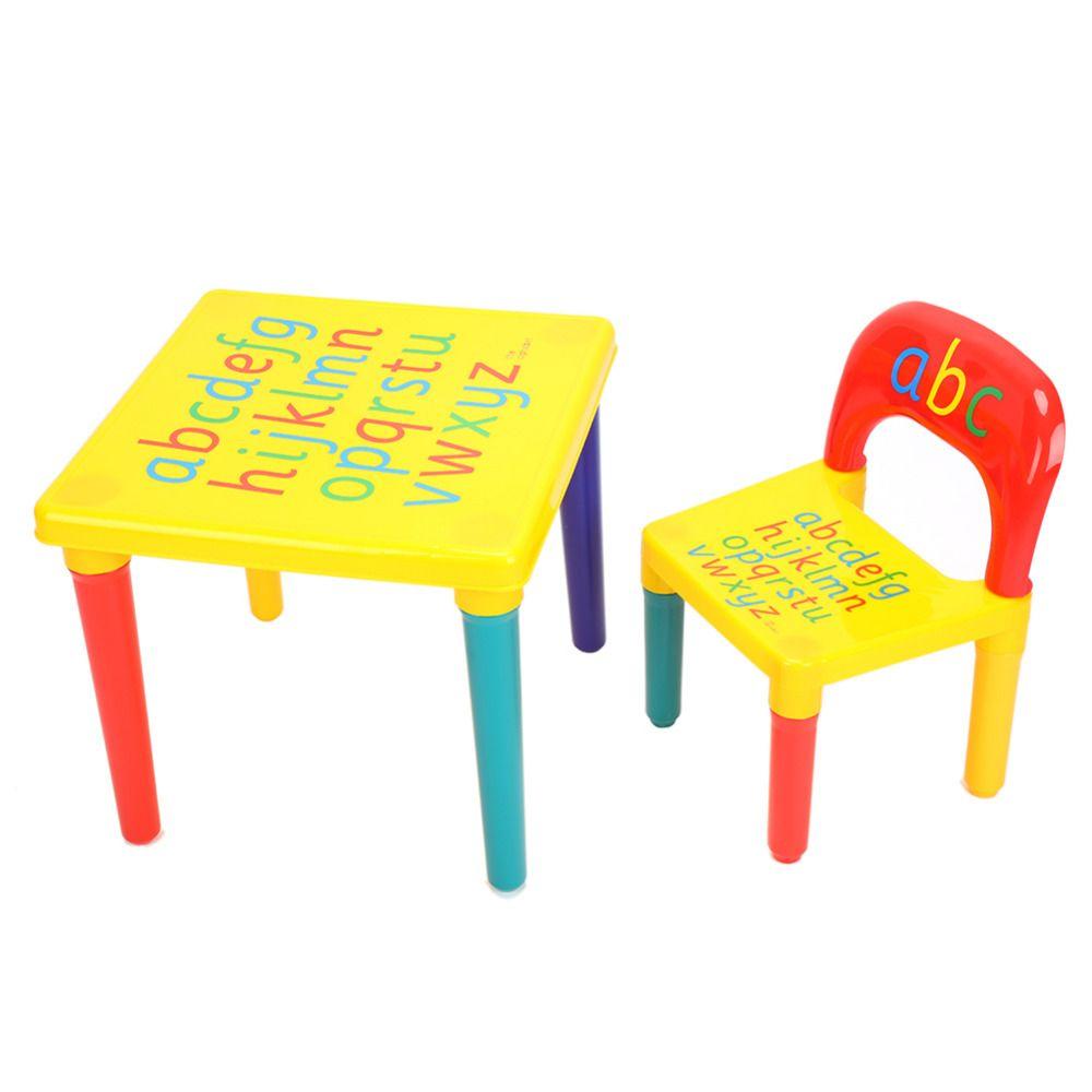 Abc Alphabet En Plastique Table Et Chaise Pour Enfant Meubles Ensembles Diner Pique Nique Kids Furniture Sets Kids Table And Chairs Fun Activities For Toddlers