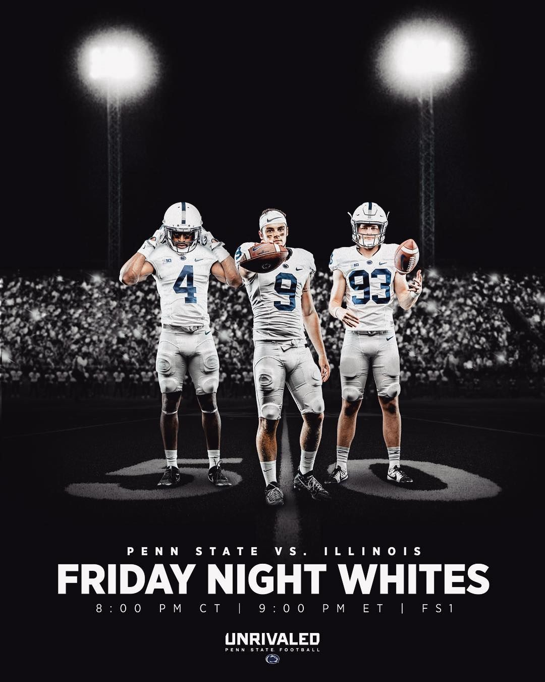 7 959 Likes 54 Comments Penn State Football Pennstatefball On Instagram Friday Night Whites Bea Penn State Football Penn State Friday Night Lights