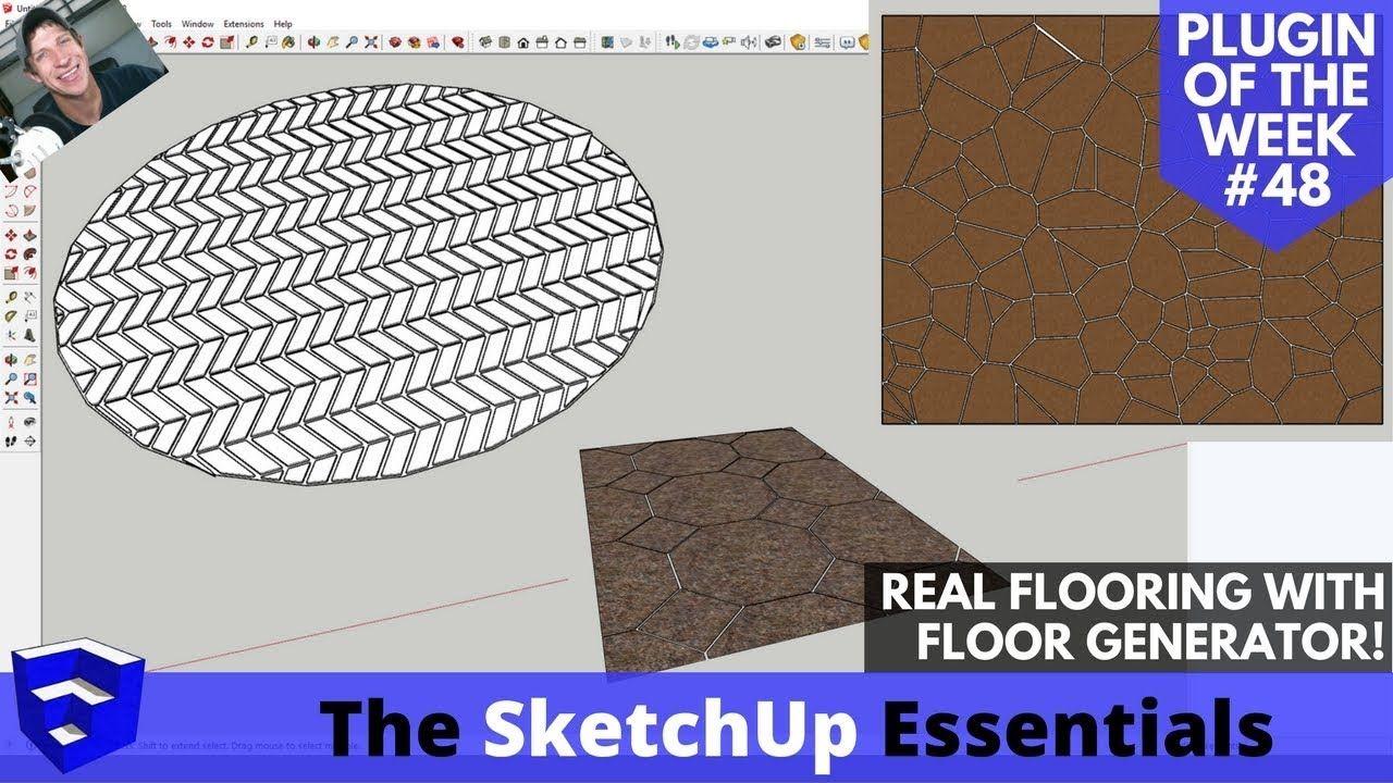 Create Detailed Flooring In Sketchup Fast With Floor Generator