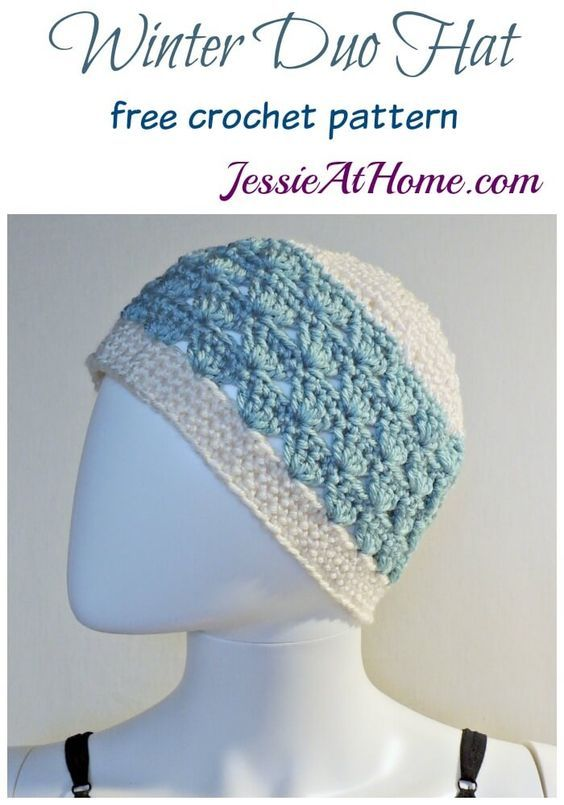 Winter Duo Hat free crochet pattern by Jessie At Home | Crochet ...
