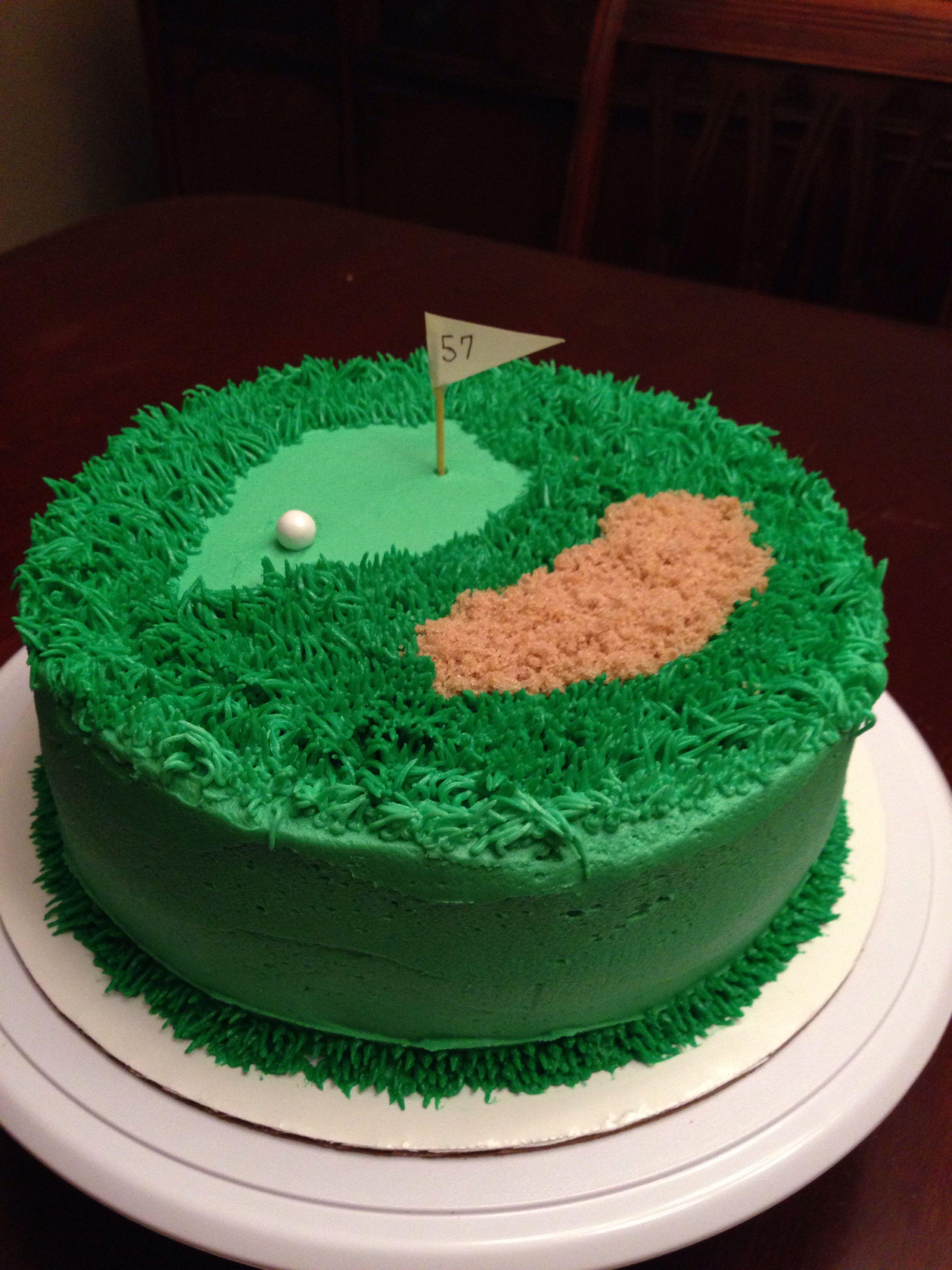 Golf cake - lemon cake, lemon curd filling, lemon buttercream frosting