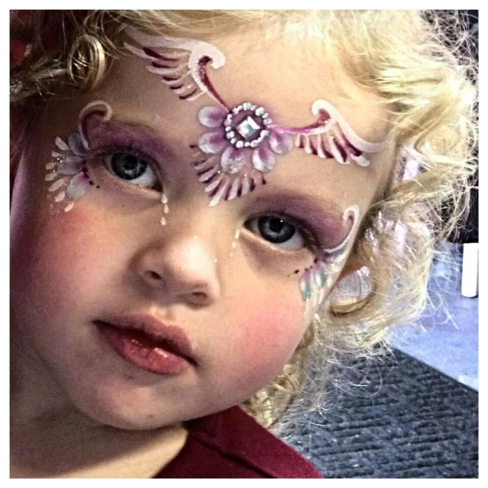 angel face paint design. Face painting, Girl