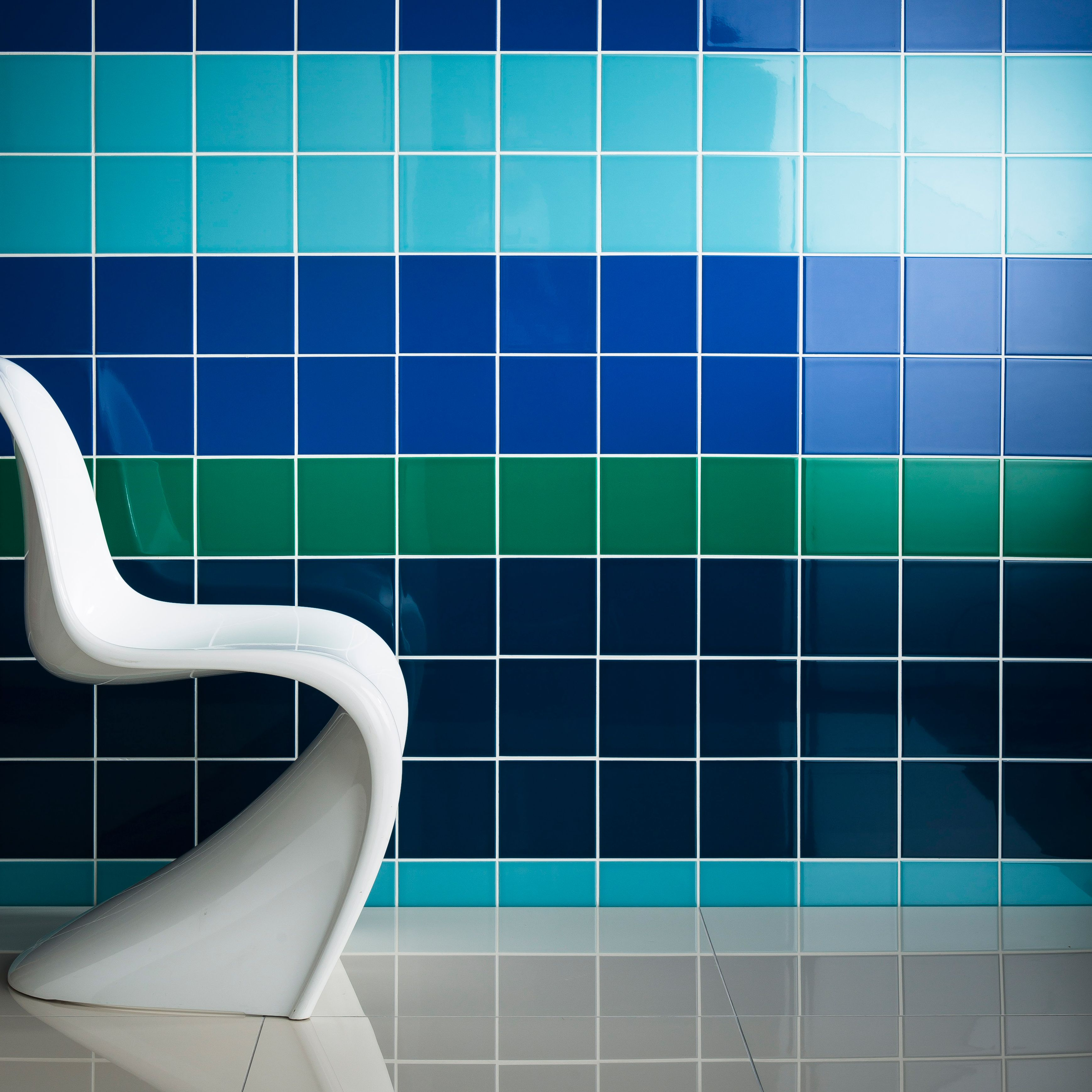 Prismatics tiles in Teal, Duck Egg, Kingfisher and Palm Green from ...