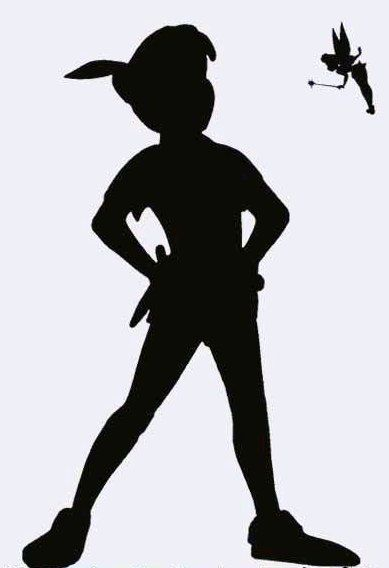 peter pan shadow vinyl decal uk seller by edithandelizabeth briggs mompeter pan would be cool for my roombut i prob would get bored of that quickly and